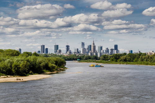 Warsaw – view from the Vistula River.